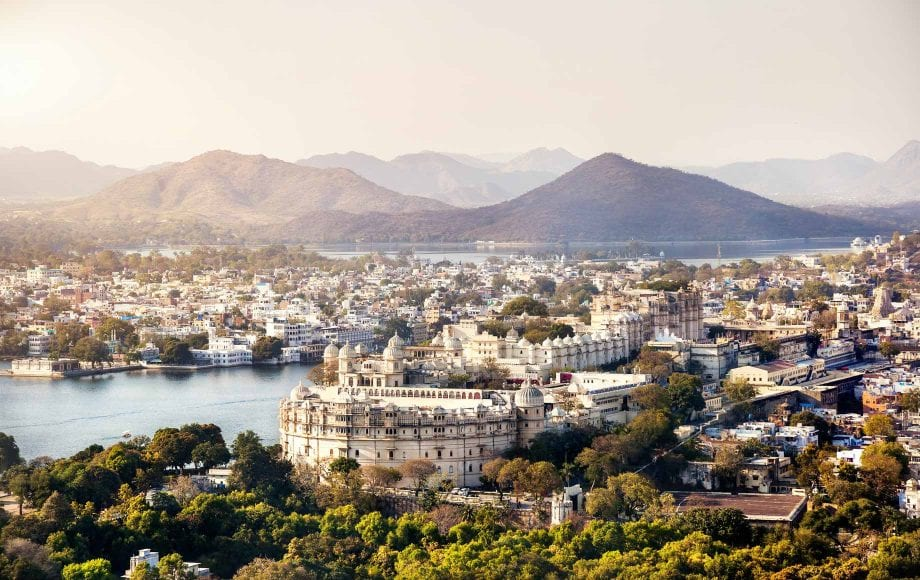 Beautiful morning of Udaipur City Views