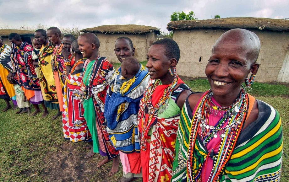 he Masai people roam between the Mara in Kenya and the Serengeti in Tanzania