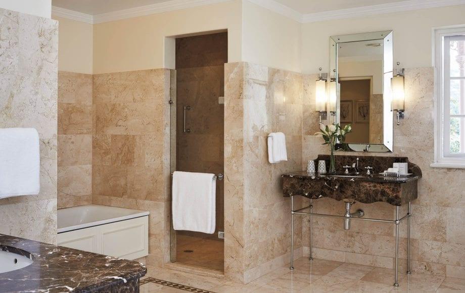 Luxurious Bathroom of Belmond Mount Nelson Hotel in Africa