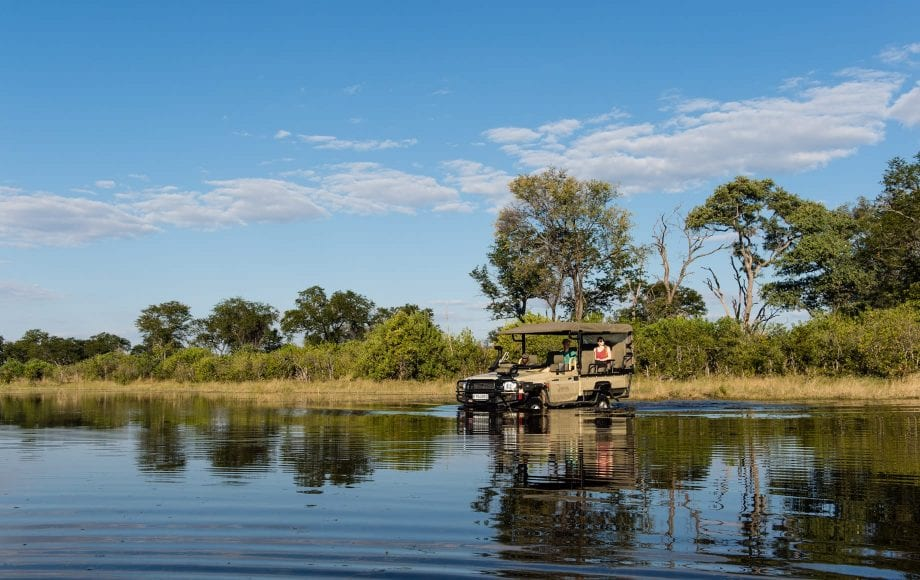 Water vehicles at Sable Alley - Okavango Delta, Botswana