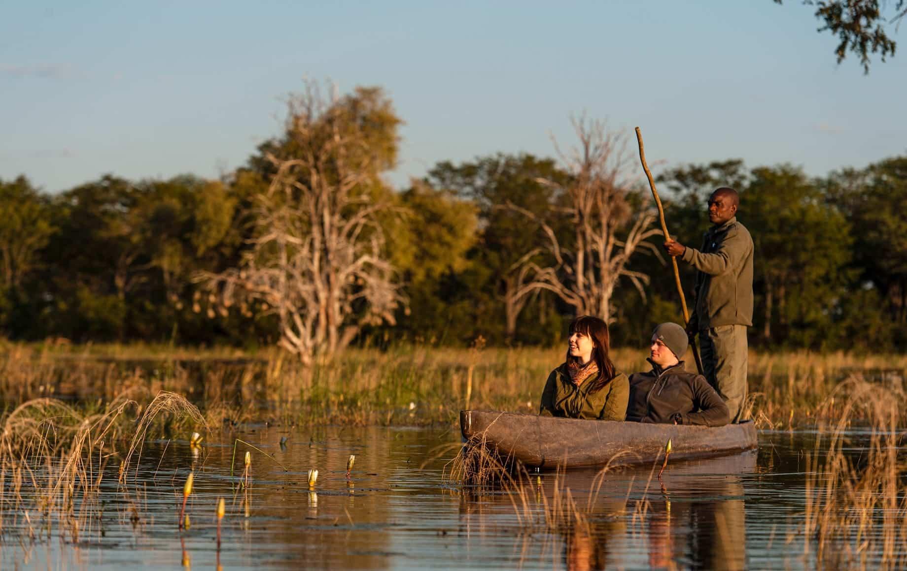 Boat ride at Sable Alley - Okavango Delta, Botswana