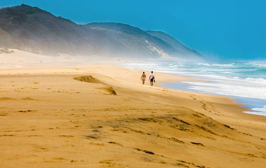 Beautiful beach view at the eastern cape