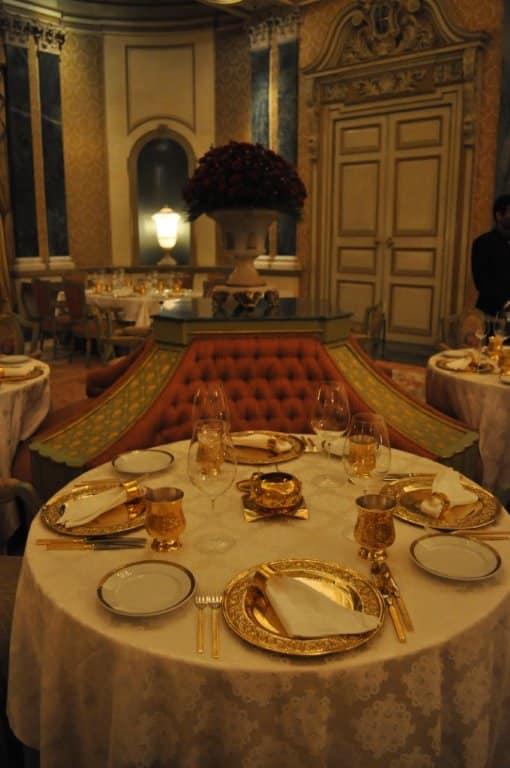 Rambagh Palace Dining Room