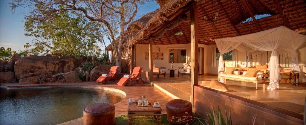 Luxury safari accommodations in Kenya.