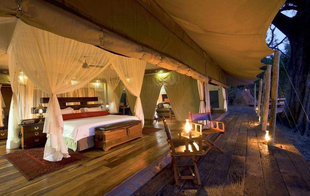 zarafa camp private tent