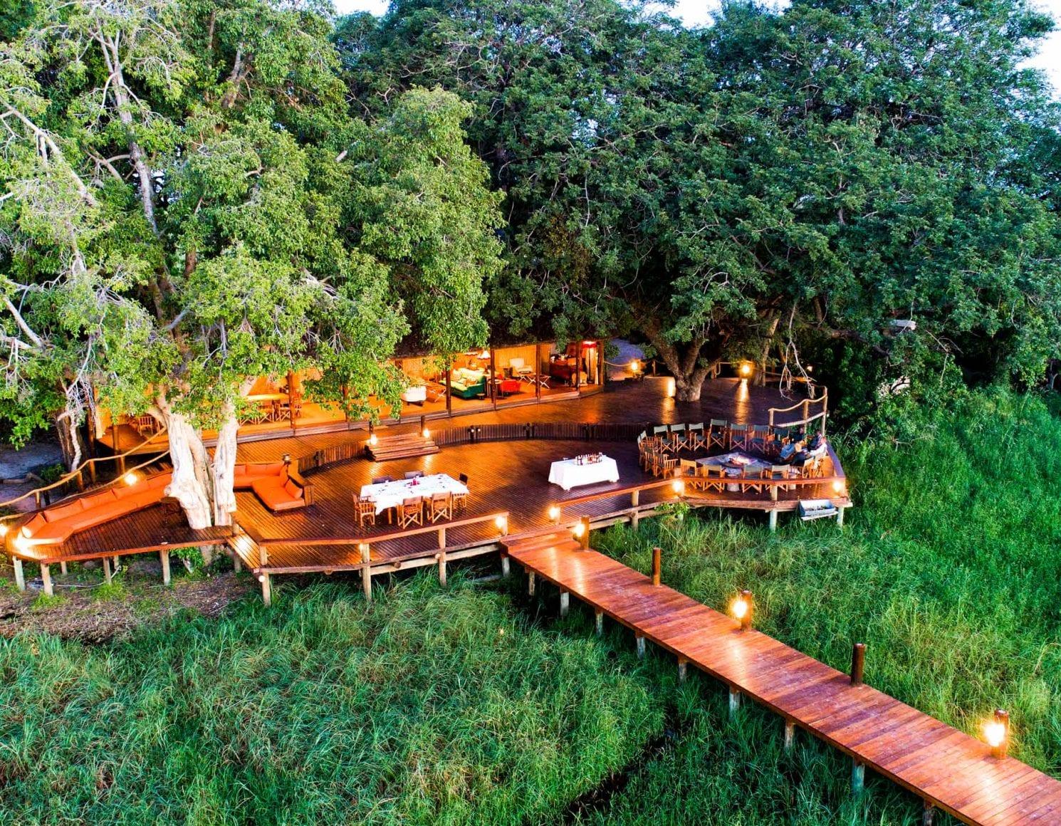 Aerial view of Mapula Lodge deck