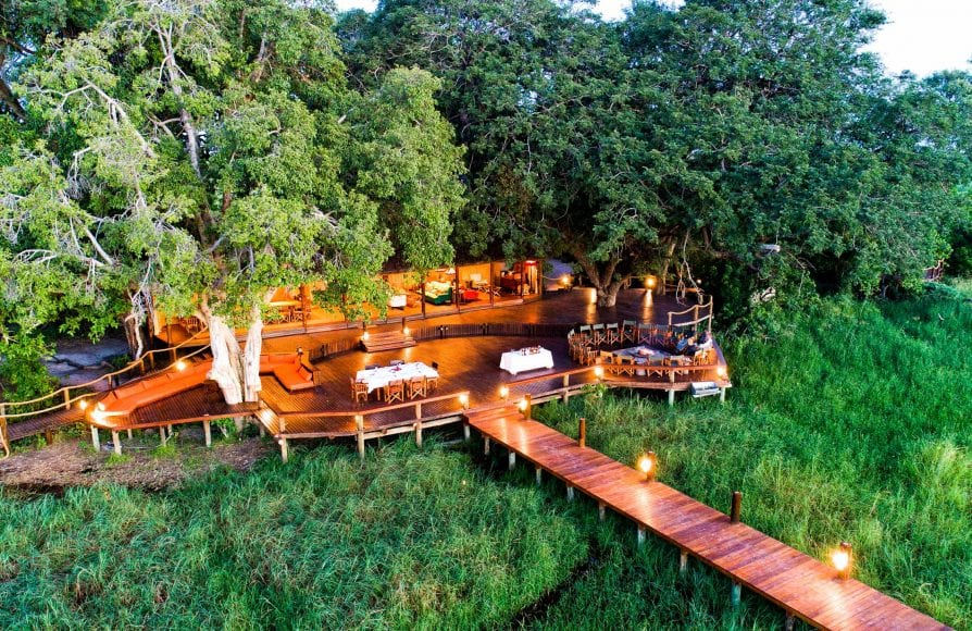 Aerial view of Mapula Lodge deck