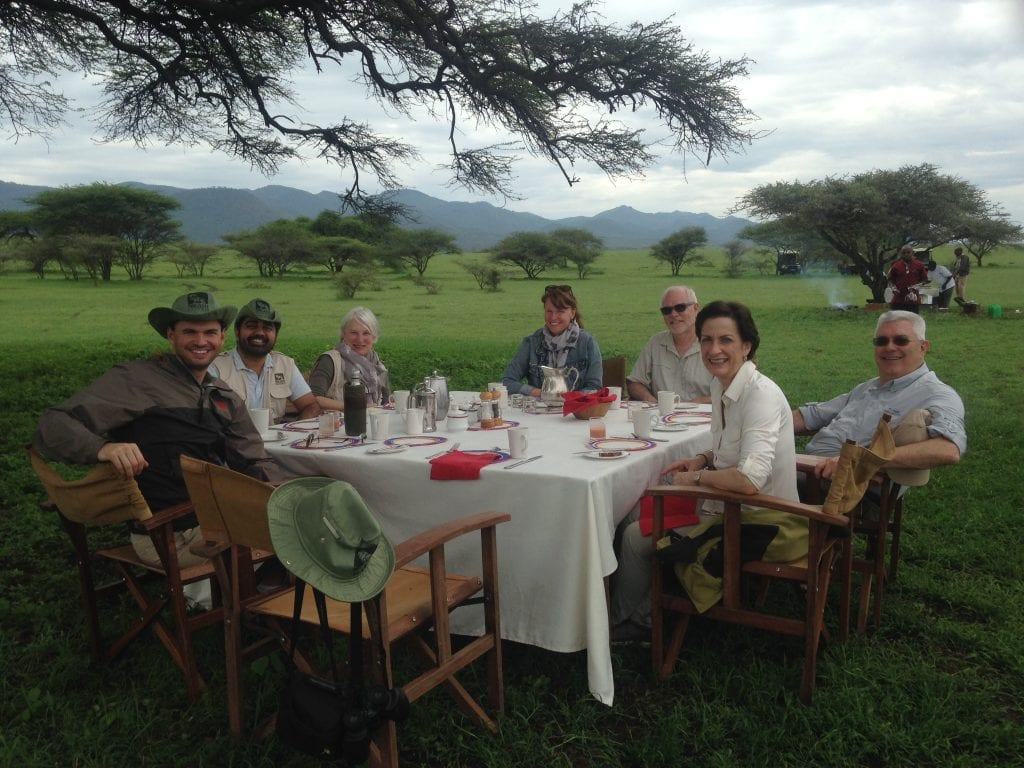 bush breakfast in africa