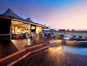 Pool deck of Somalisa Lodge