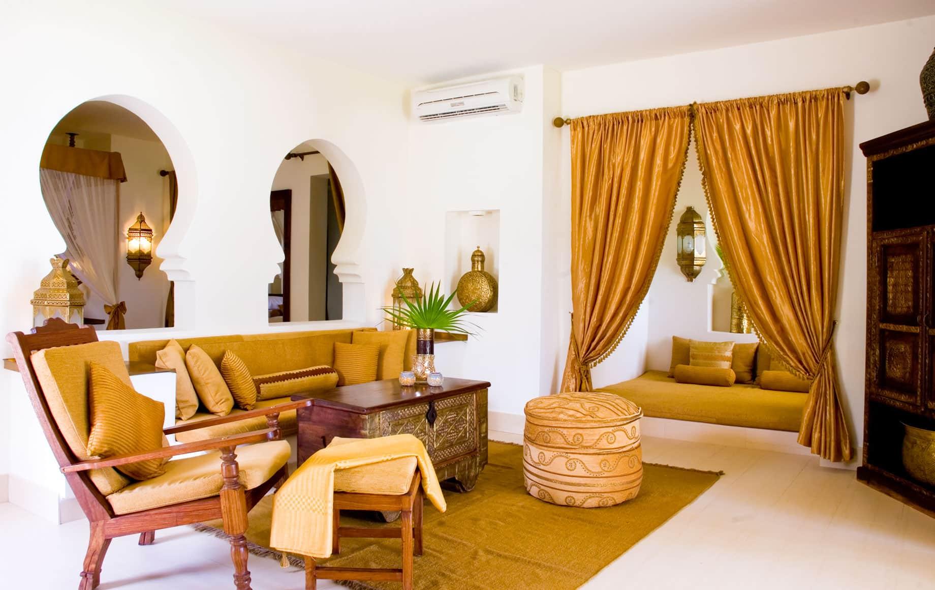 Interior seating area of Baraza Resort & Spa