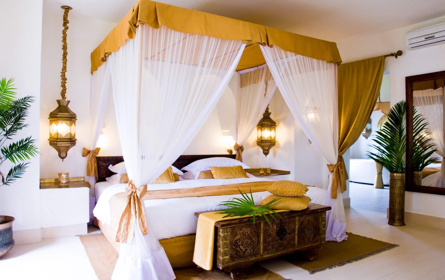 Interior of bedroom at Baraza Resort & Spa
