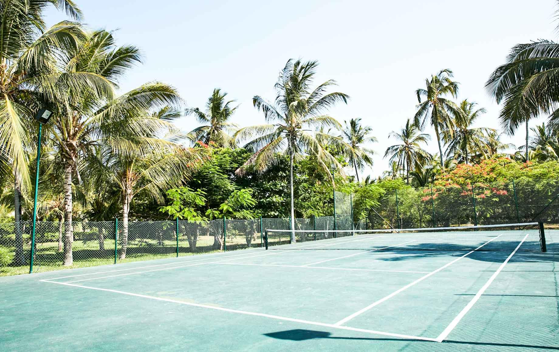 Tennis courts at Baraza Resort & Spa
