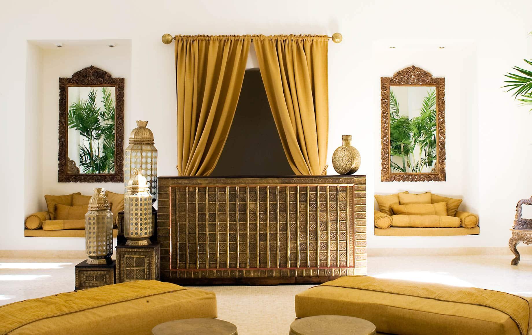 Interior lounge area of Baraza Resort & Spa