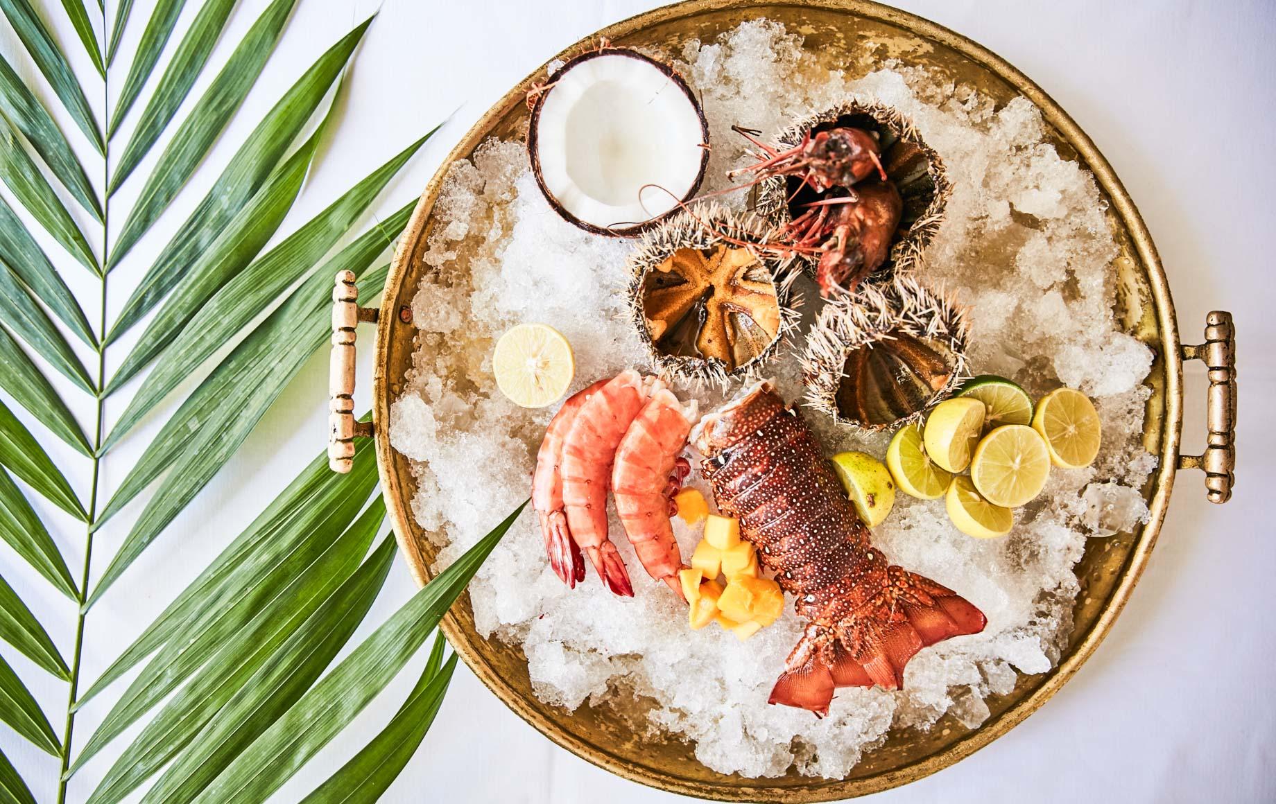 Seafood dish at Baraza Resort & Spa