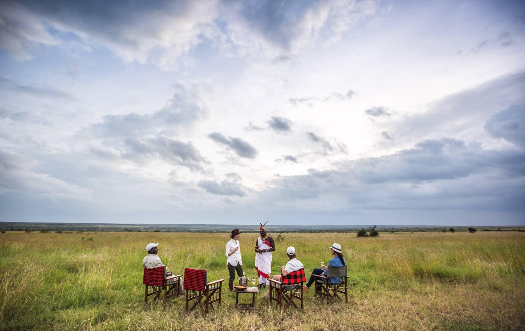Safari-goers take a rest in Loisaba Conservancy