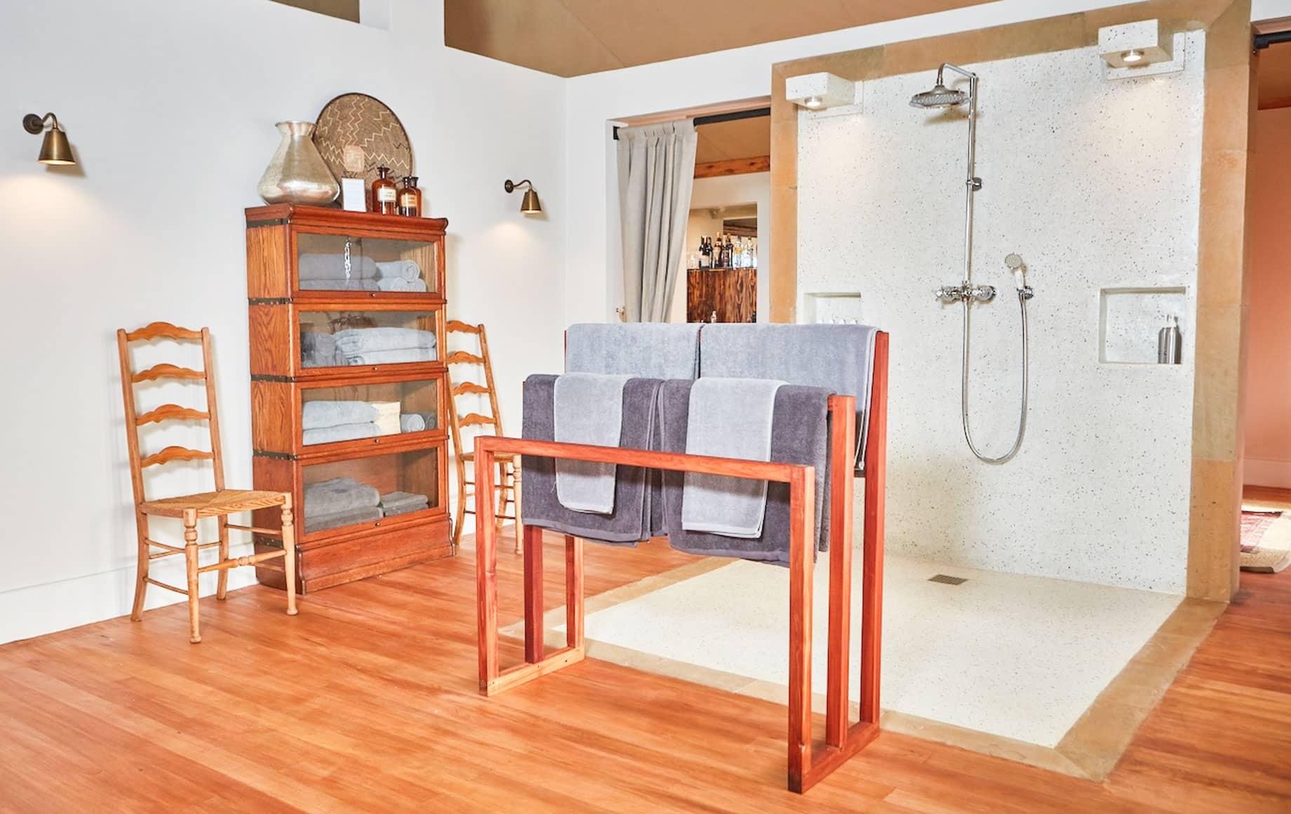 Interior of bathroom at Loisaba Lodo Springs