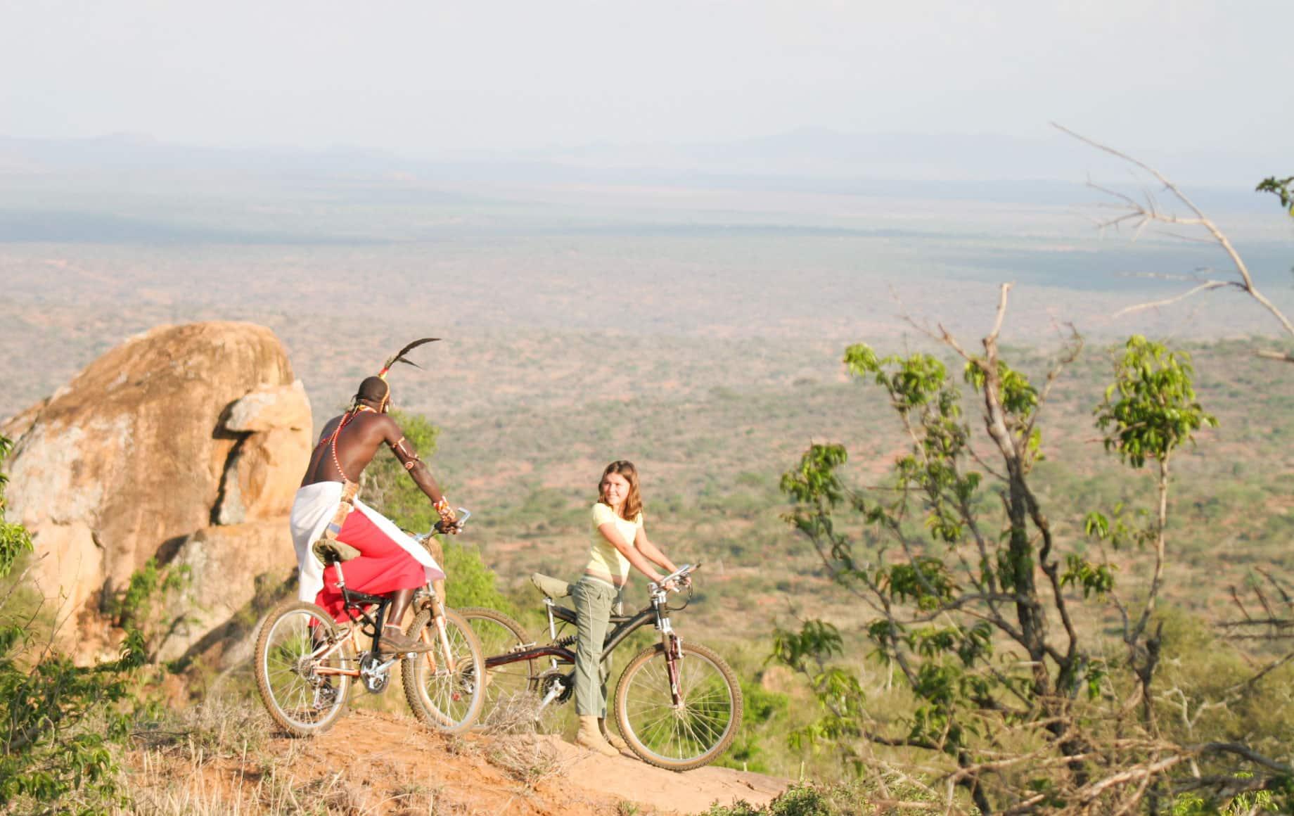 Biking near Loisaba Conservancy