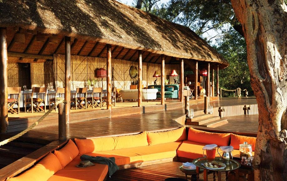 Outdoor sitting area at Mapula Lodge