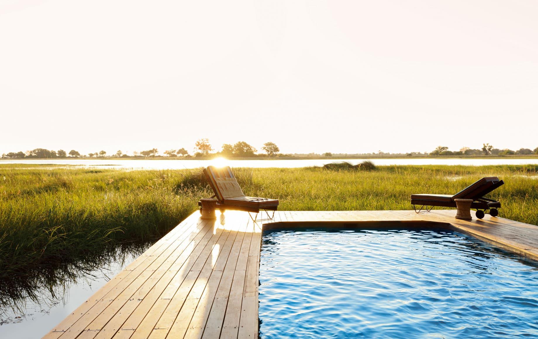 Outdoor pool at Mapula Lodge