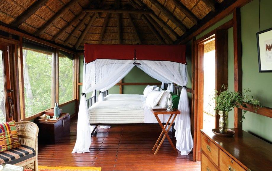 Interior of Mapula Lodge bedroom