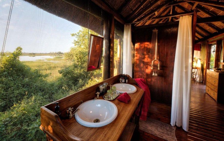 Interior of bathroom at Mapula Lodge