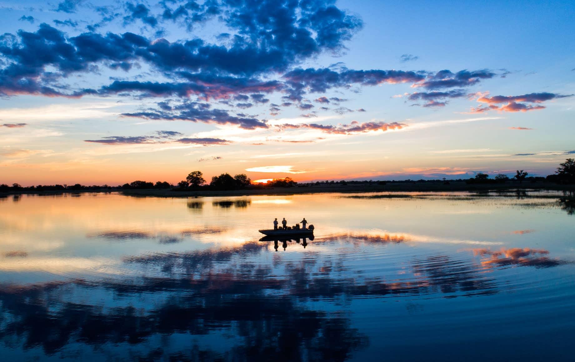 Sunset boat ride near Mapula Lodge