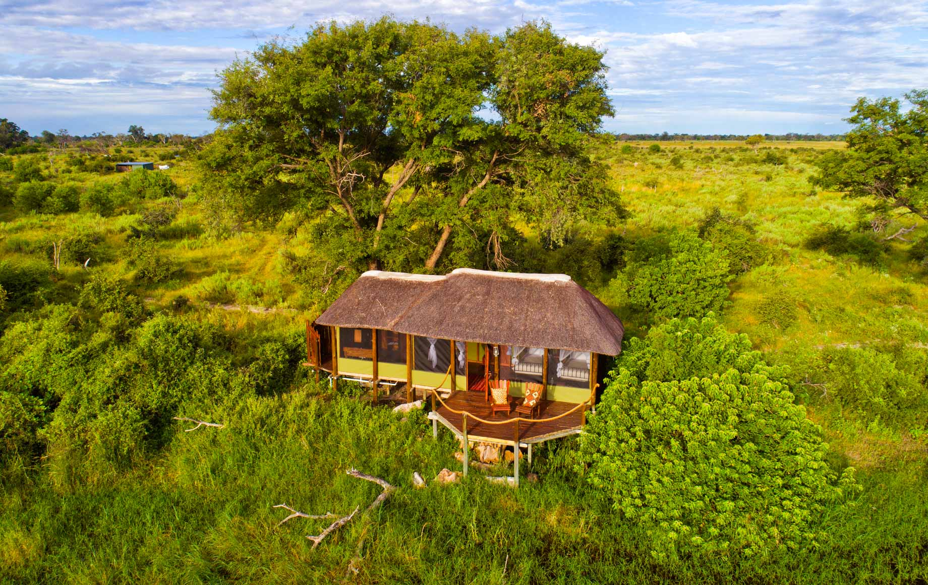 Aerial view of Mapula Lodge suite