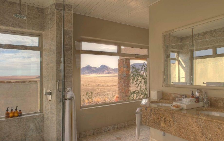 The bathroom of the lodge rooms