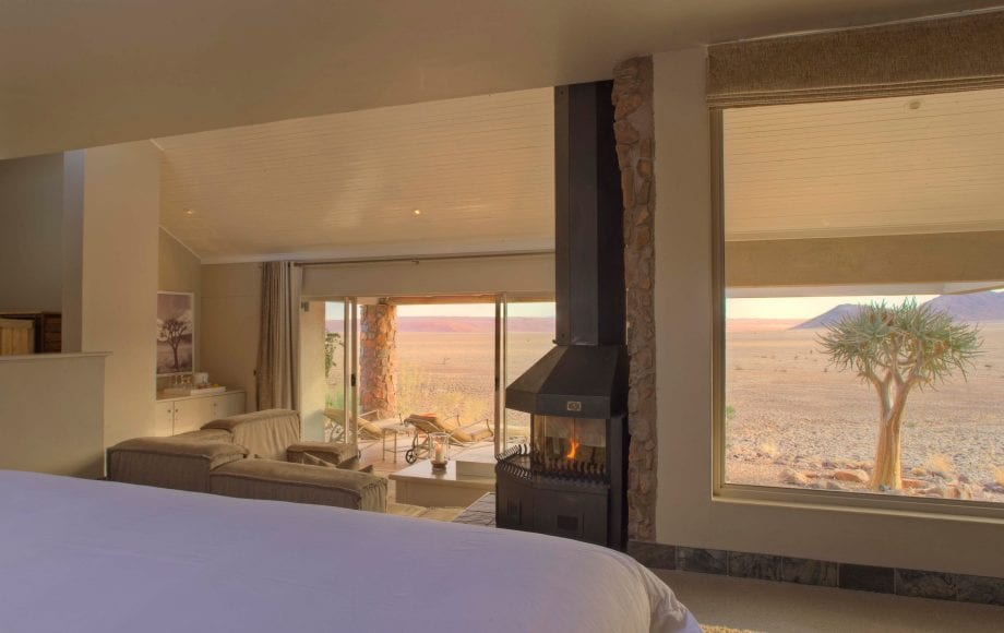 View from the lodge bedroom