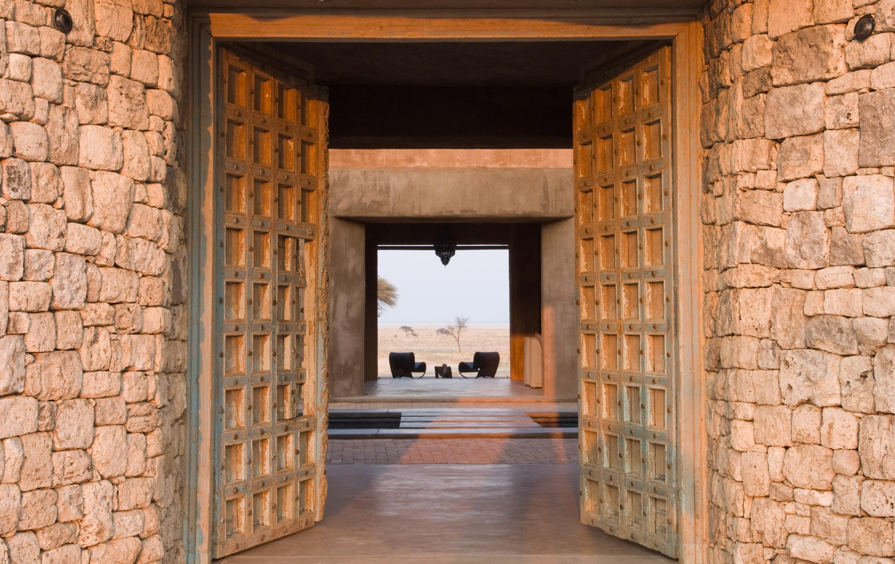 Large doors of Onguma the Fort