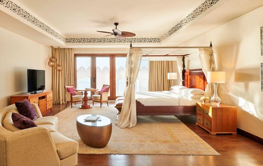 Interior of bedroom at Park Hyatt, Zanzibar