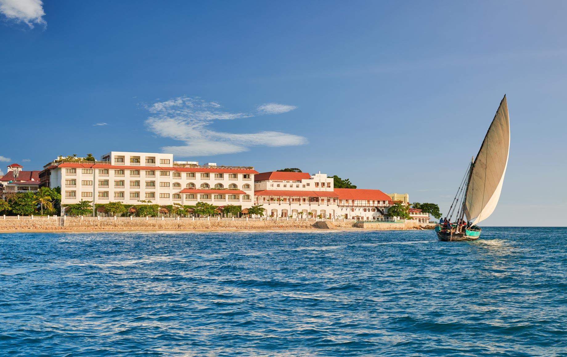Sailboat near Park Hyatt, Zanzibar