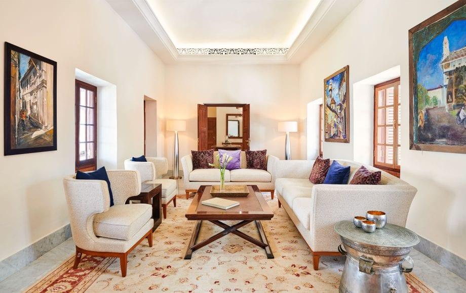 Interior living area of Park Hyatt, Zanzibar