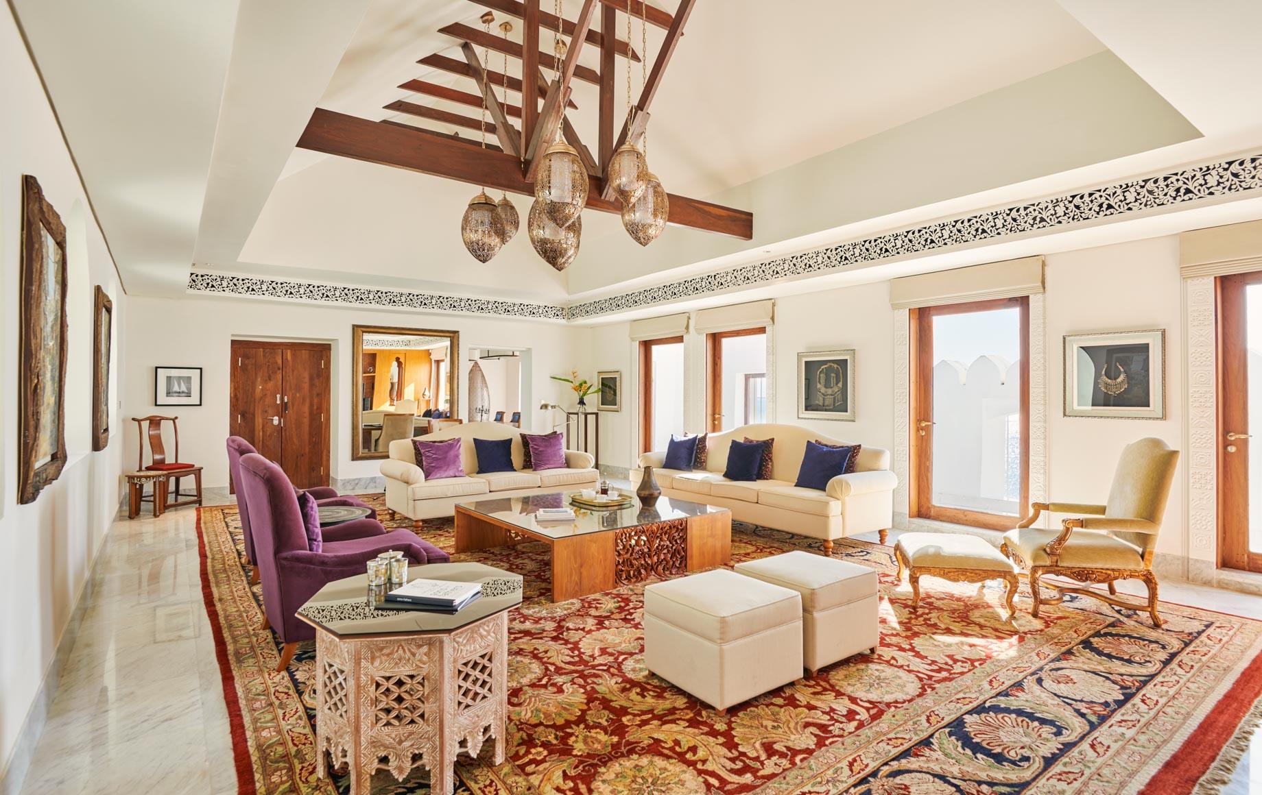 Interior lounge area at Park Hyatt, Zanzibar