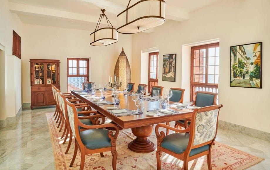 Interior dining room at Park Hyatt, Zanzibar