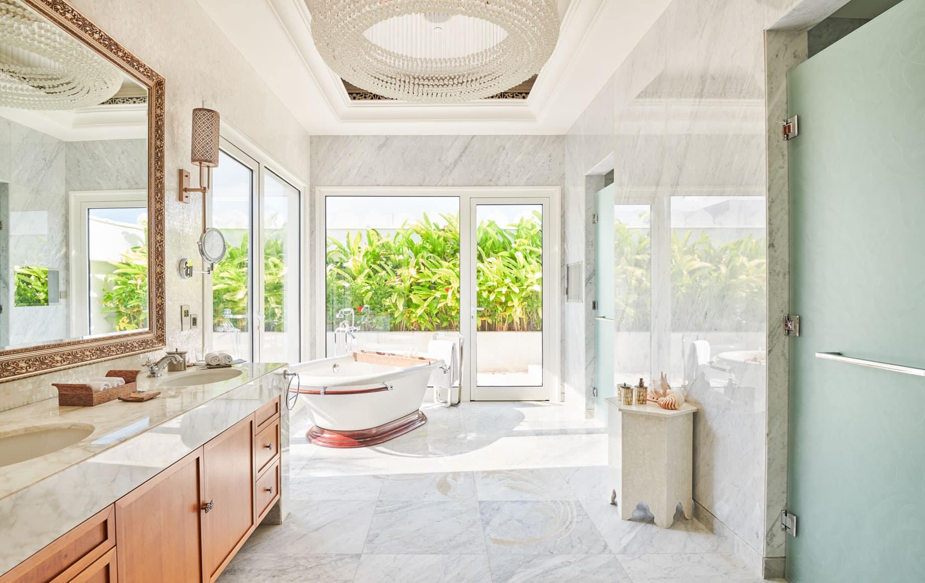 Interior of bathroom at Park Hyatt, Zanzibar