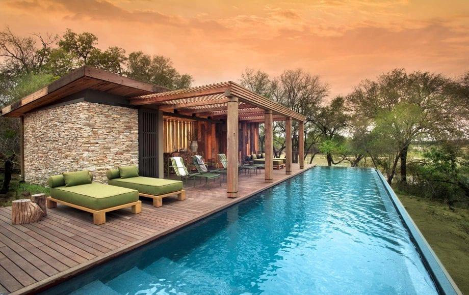 Pool deck at Tengile River Lodge