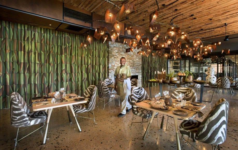 Interior dining area at Tengile River Lodge