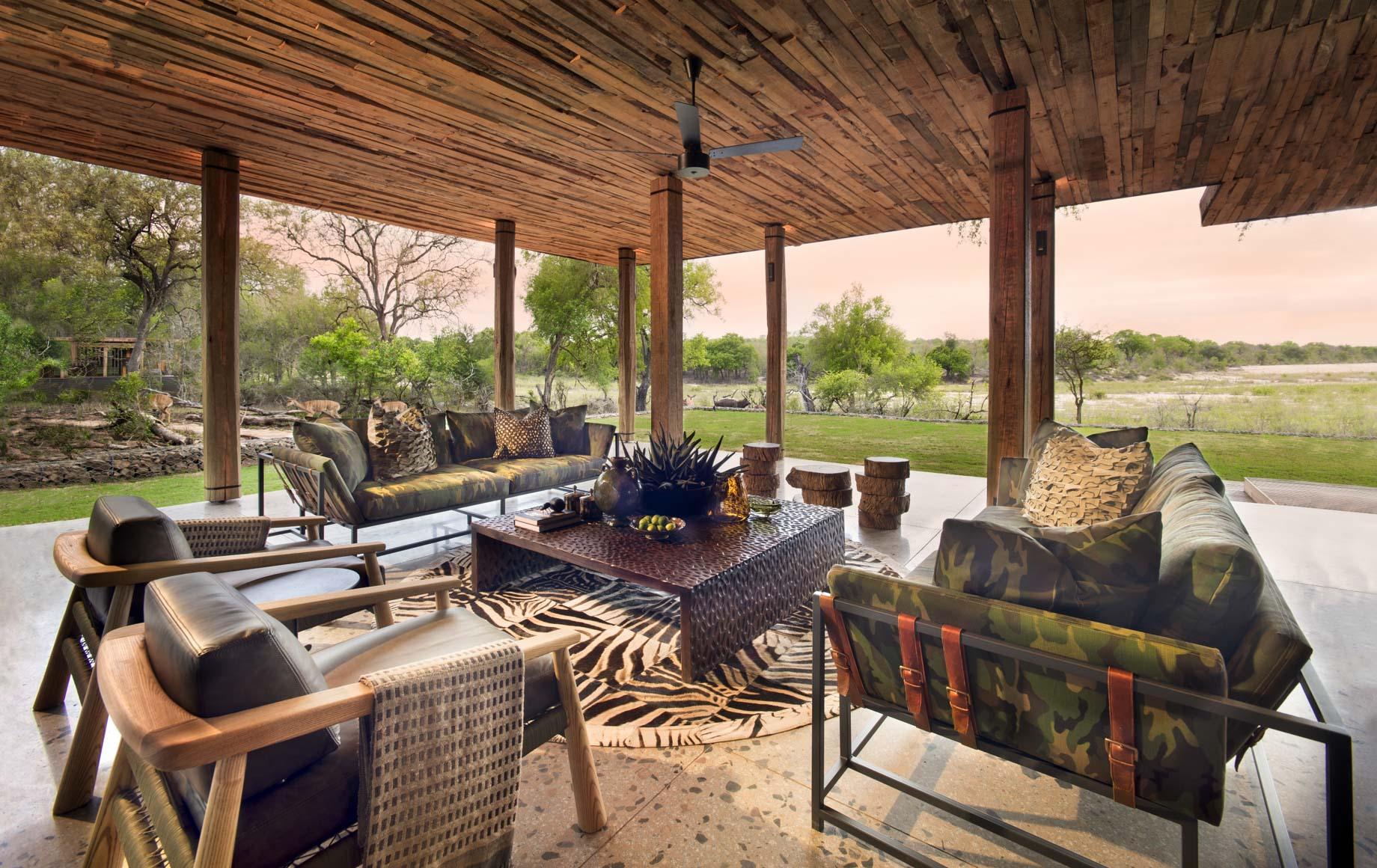 Interior lounge area of Tengile River Lodge