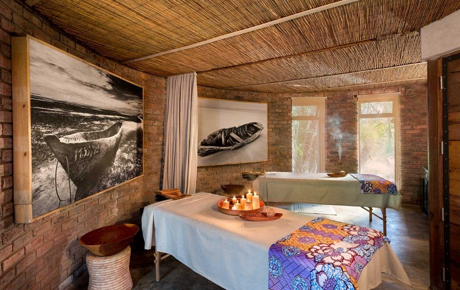 Massage room at Thorntree River Lodge