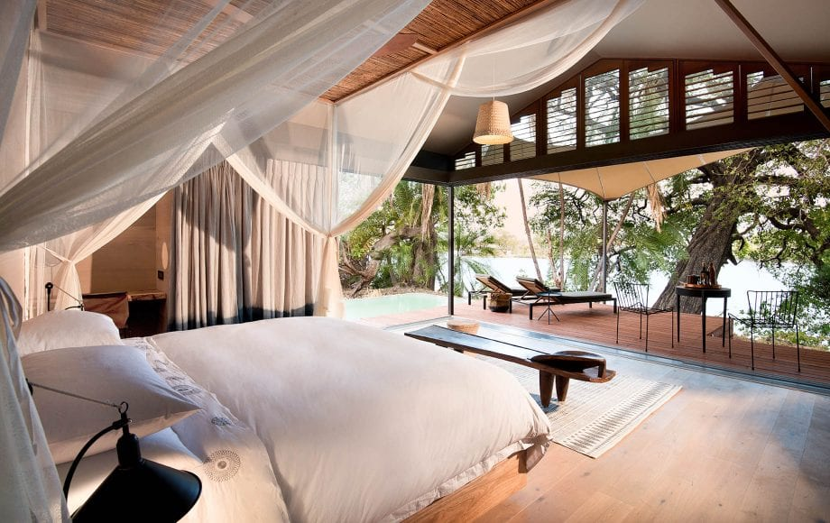 Interior view of Thorntree River Lodge bedroom