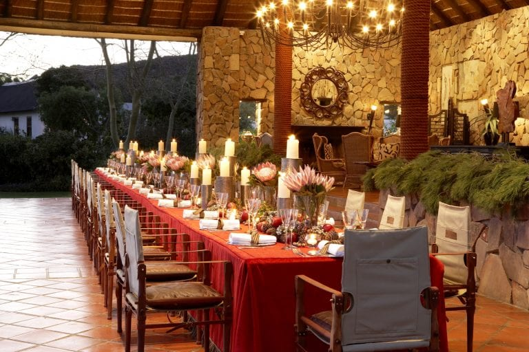 festive holiday table in Africa
