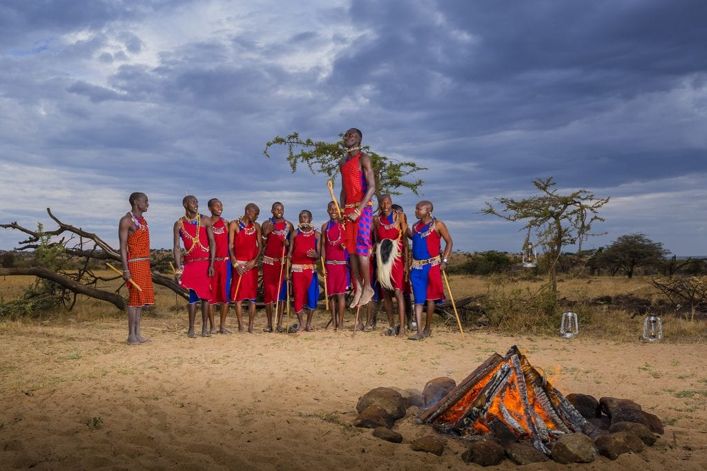Maasai performing their jumping dance