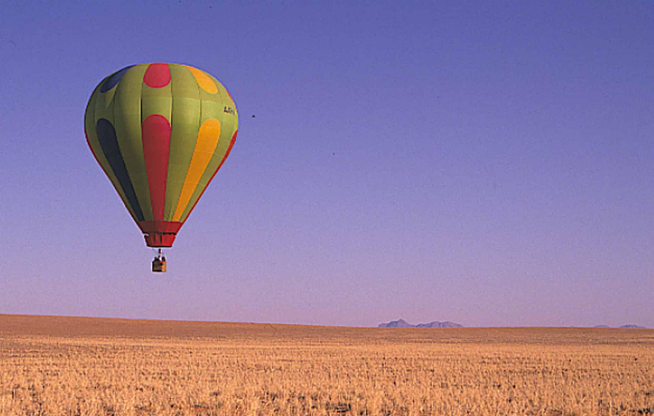 Ballooning over plains