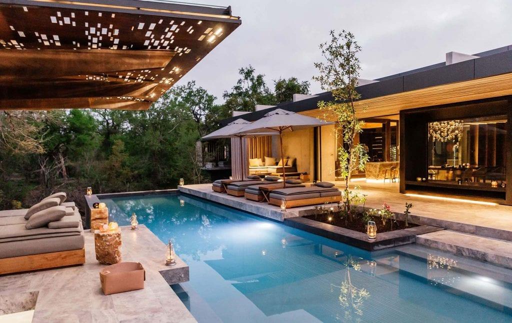 A pool at Cheetah Plains