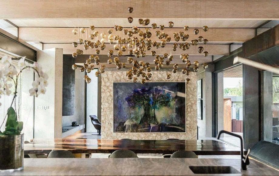 A decorative chandelier