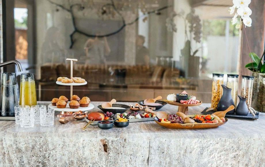 A feast on a table