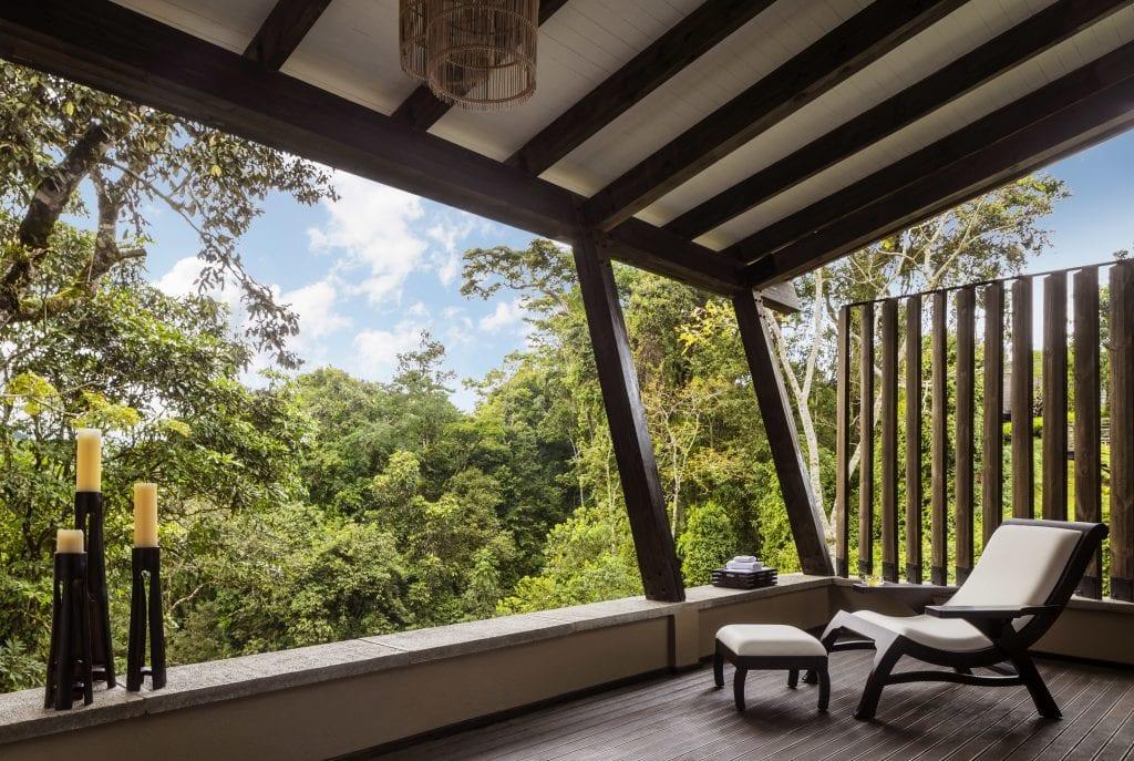 terrace overlooking jungle in rwanda