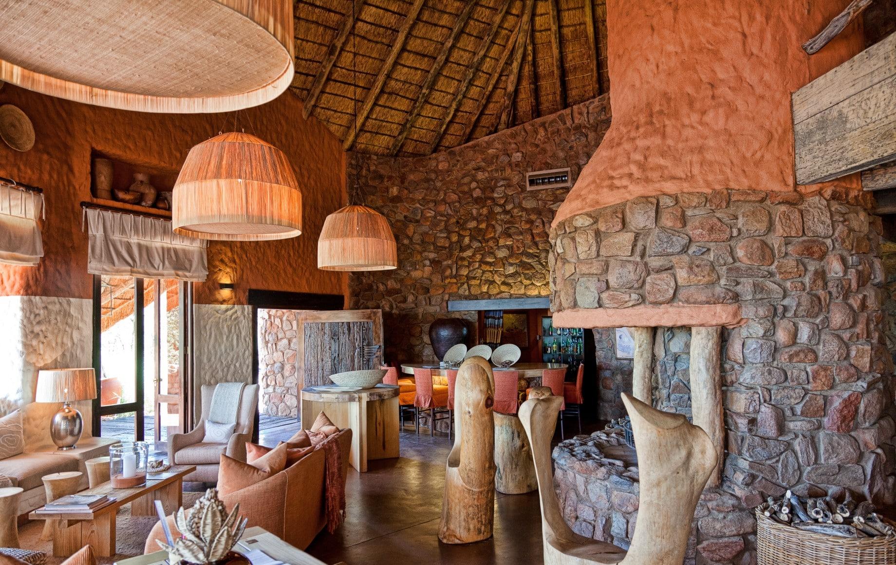 lobby at Tswalu Motse