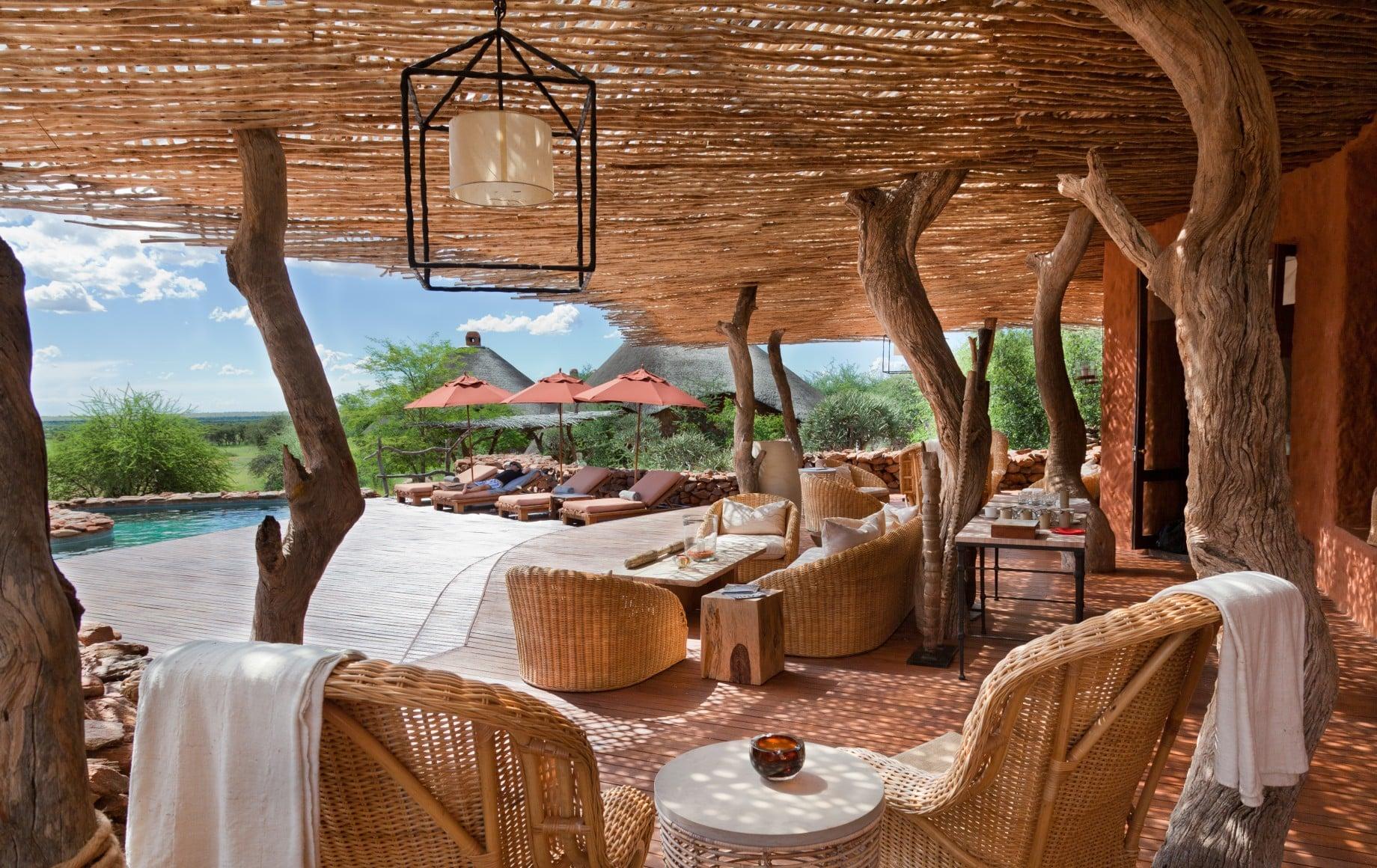 dining area at Tswalu Motse